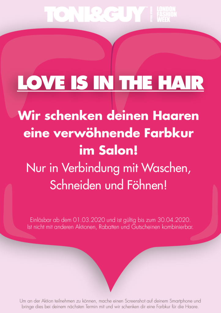 Valentinstagsaktion im Salon